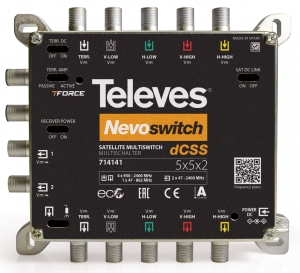714141 Multiswitch dCSS 5x5x2 Nevo Televes